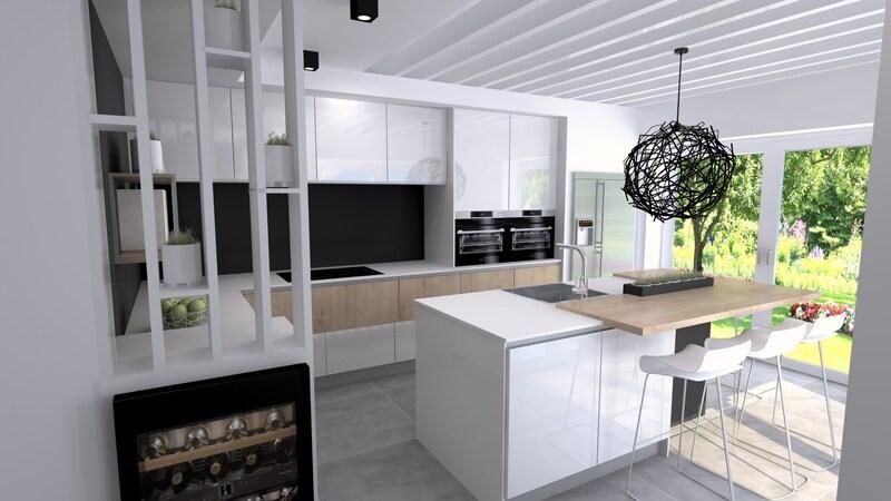 Projet 3D - Cuisine blanche avec Jeanfils