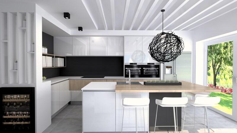 Projet 3D - Cuisine blanche et moderne avec Jeanfils