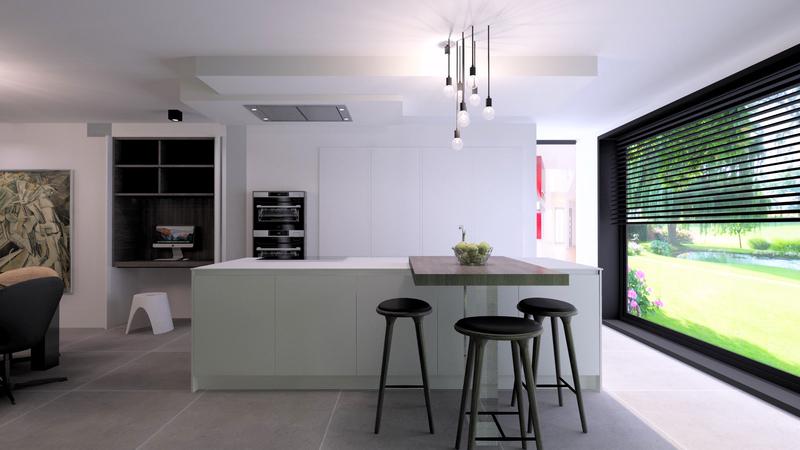 Projet 3D - Réalisation d'une décoration de cuisine avec Jeanfils (Liège)