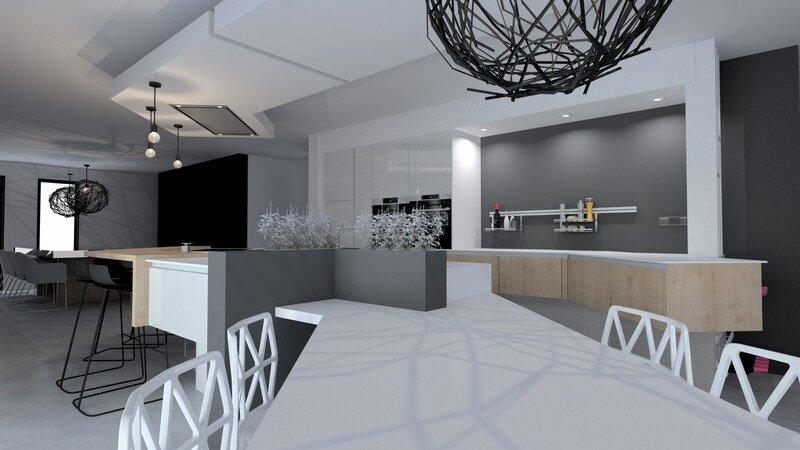 Réalisation d'un projet 3D - Cuisine avec Jeanfils (Liège)