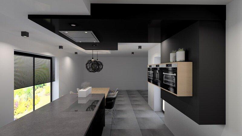 Projet 3D - Réalisation d'une cuisine design et moderne (Liège) - Jeanfils