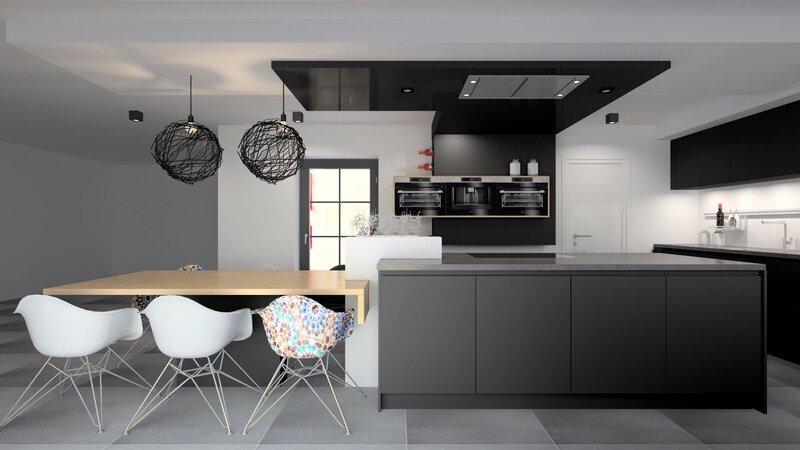 Projet 3D - Réalisation d'une cuisine (Liège)- Jeanfils