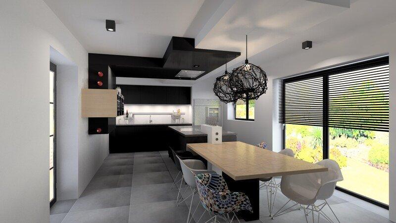 Projet 3D - Réalisation d'une cuisine à Liège - Jeanfils