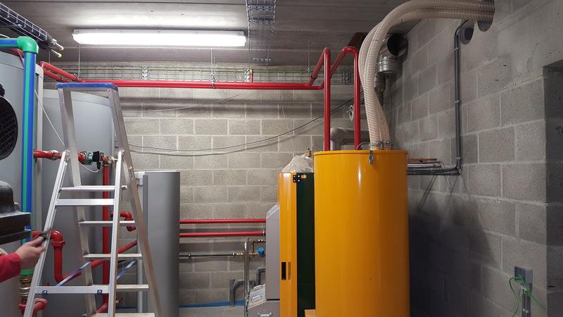 Réalisation privée - Installation d'un système de chauffage