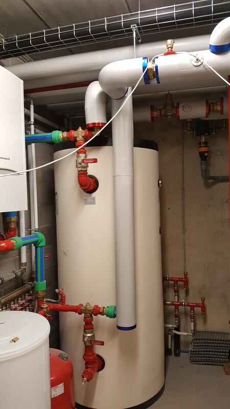 Réalisation privée - Pose d'un système de chauffage avec Jeanfils ( à Liège)