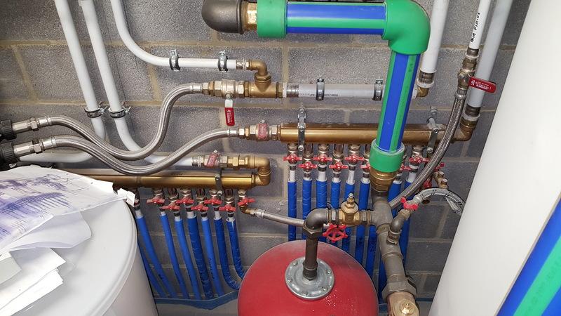 Réalisation dans le secteur privé - Pose d'un système de chauffage avec Jeanfils ( à Liège)
