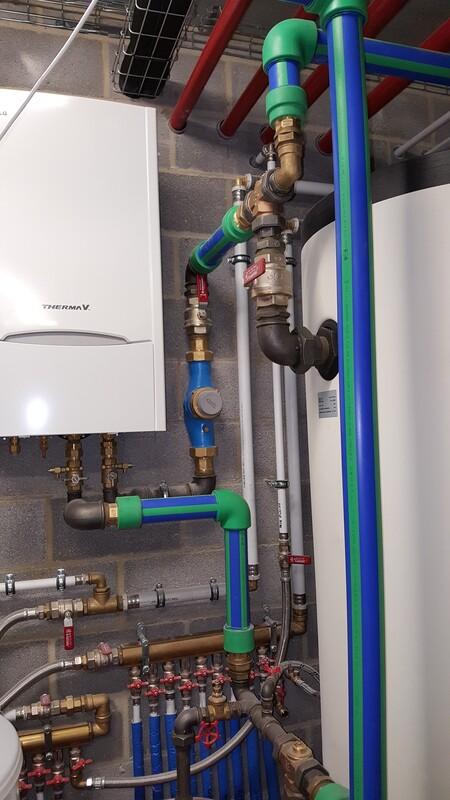 Réalisation - Pose d'un système de chauffage avec Jeanfils ( à Liège)